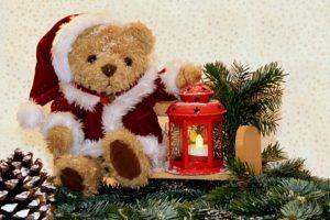 Weihnachtsteddy mit Laterne